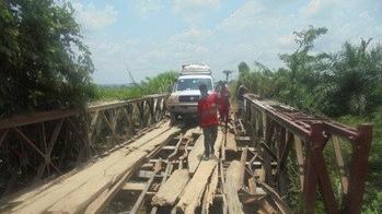 Le pont de Mfidi constitue aujourd'hui un dange pour les usagers